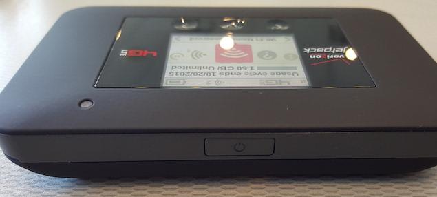 Verizon Jetpack 4G LTE Mobile Hotspot AC791L power button