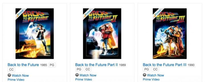 Watch Back to the Future, Back to the Future II and Back to the Future III online, but not on Netflix.