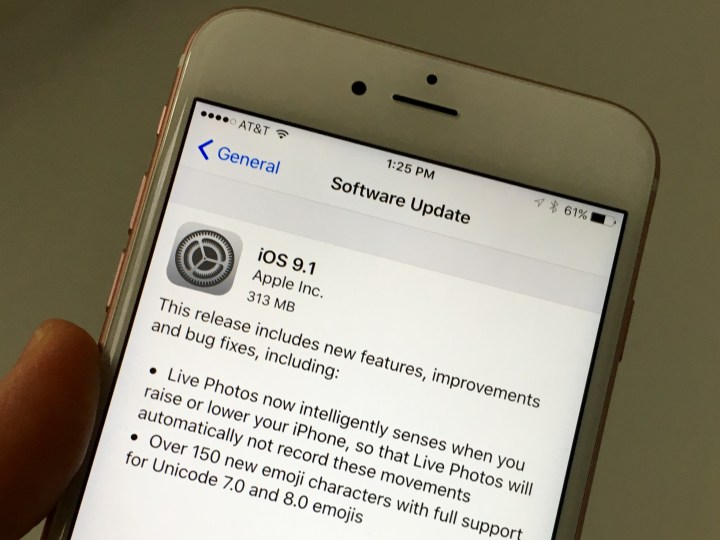If You're On iOS 9.0.2, You Can Trial the iOS 9.1 Update