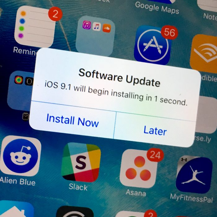 iOS 9.1 on iPhone 6 Plus - 2