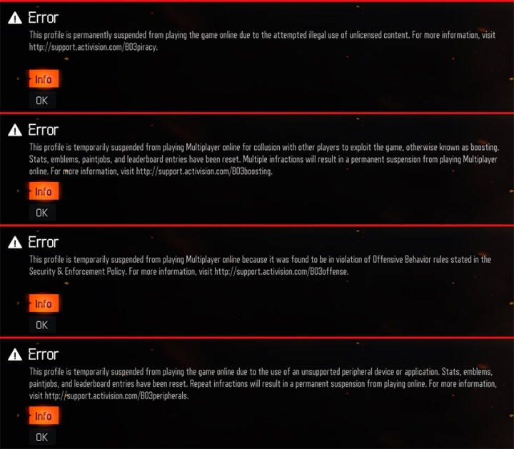 Using Call of Duty: Black Ops 3 hacks can result in a ban.