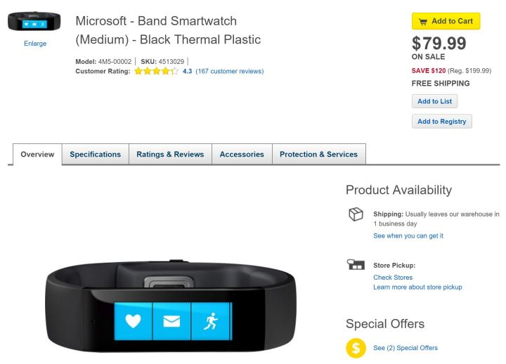 Microsoft Band Deal