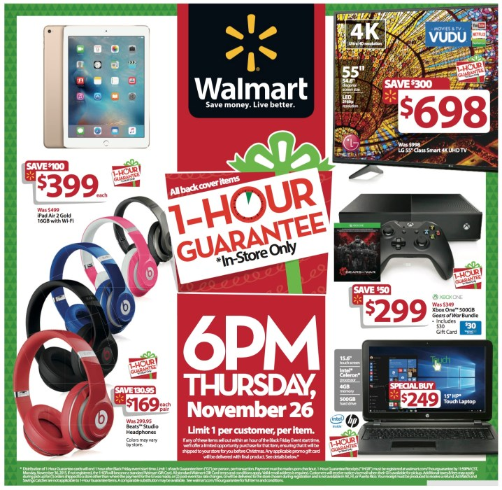 Walmart brings back a major promise that makes going to the store for Walmart Thanksgiving 2015 sales worthwhile.