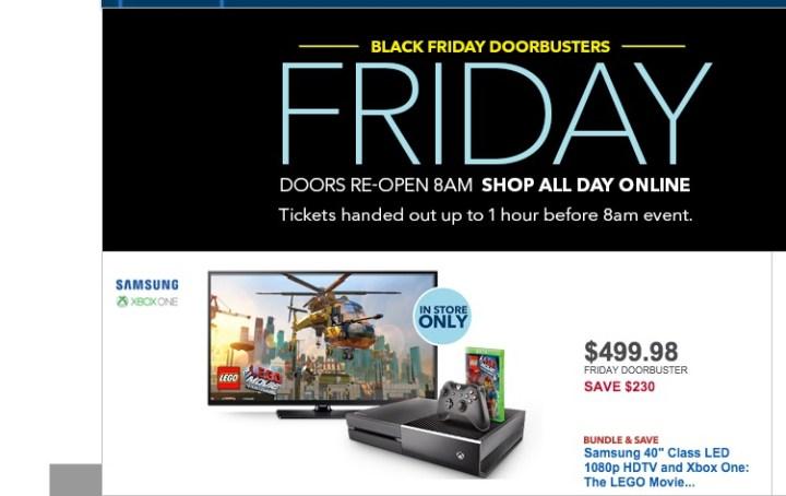 Xbox One Black Friday 2015 Deals