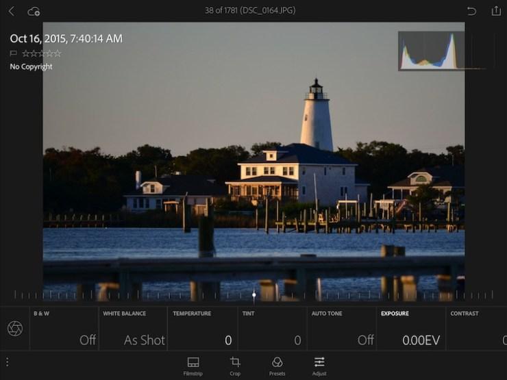 adobe photoshop lightroom mobile editing tools