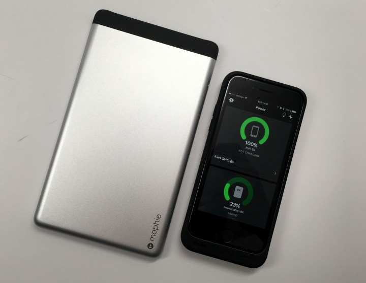 The Mophie Powerstation 8X offers a huge charge and connects by Bluetooth to let you know how much power is left.
