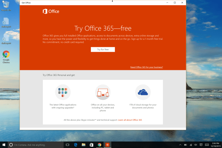 try office 365 free