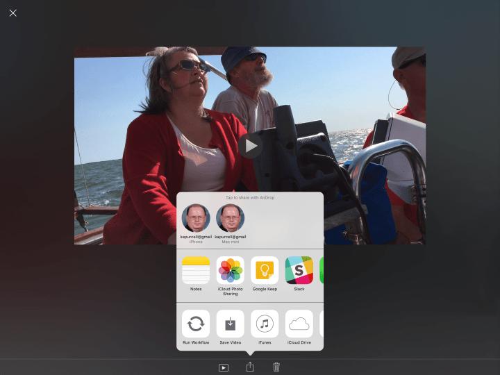 imovie share ipad
