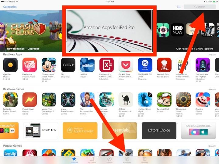 ipad pro app store