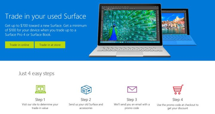 surface pro 4 trade in deal