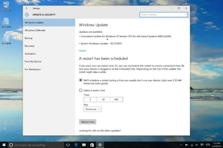 windows update with surface pro 4 updates available
