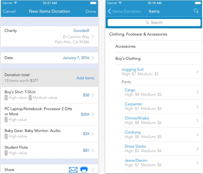 Use the Intuit tax software on your iPhone to track deductions.