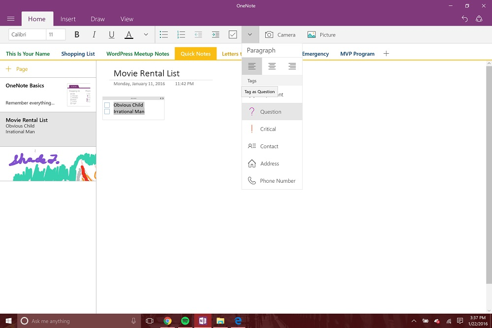 microsoft onenote 2016 tips and tricks