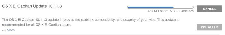 OS X 10.11.3 Update