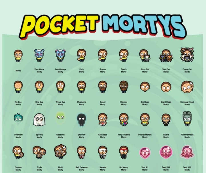 Pocket mortys tips tricks collect them all for Rick and morty craft list