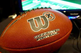This is the Wilson X Connected football with Bluetooth.