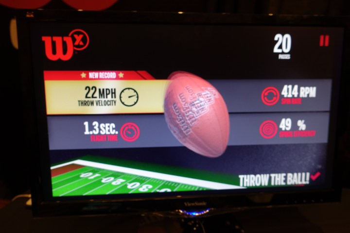 The Wilson X Connected Football includes options to play through various situations with friends.