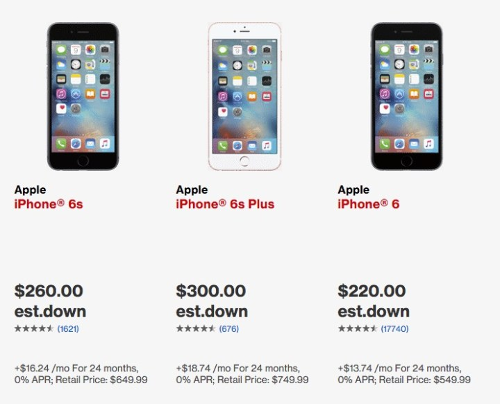 How much you need to pay for an iPhone with bad credit.