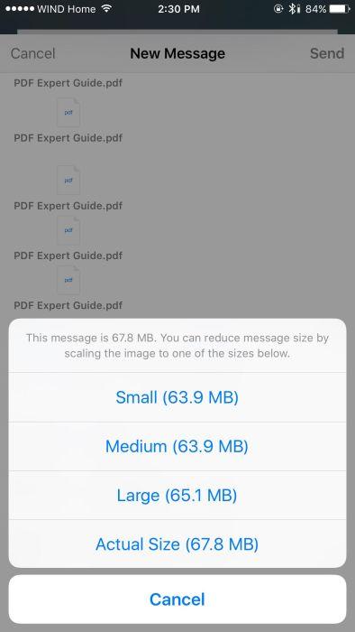 Mail Drop on iOS 9