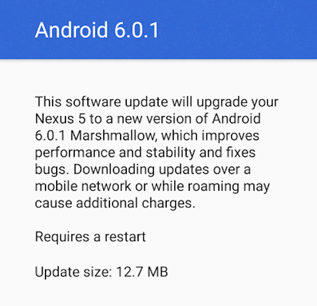 April Nexus 5 Android 6.0.1Review