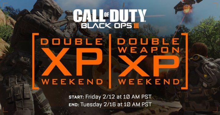 What you need to know about the new Black Ops 3 Double XP weekend.