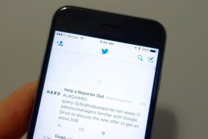 Pull down to dismiss the best Tweets on Twitter apps.