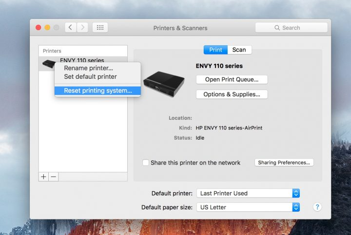 Fix OS X El Capitan printer problems in minutes.