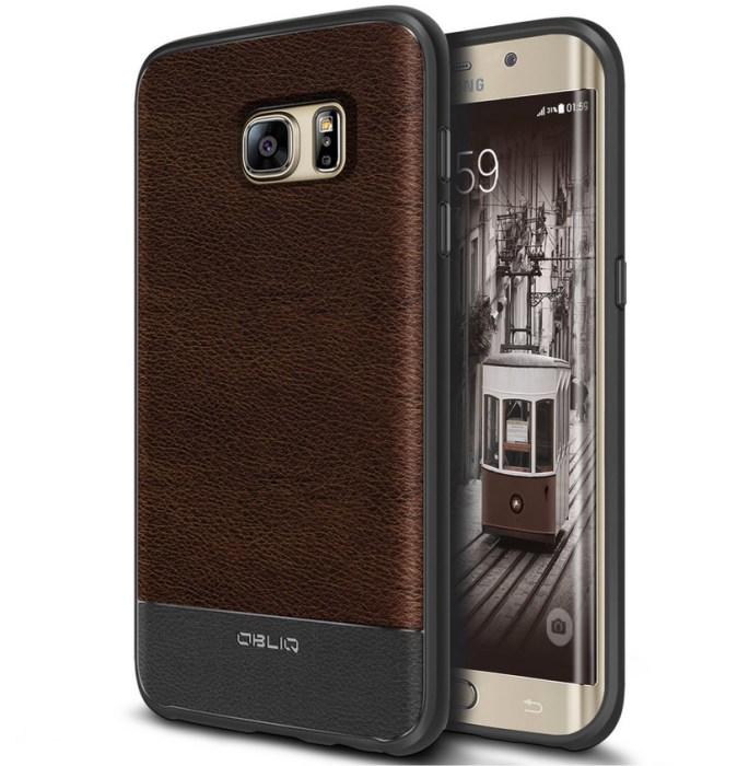OBLIQ Espresso PU Leather Galaxy S7 Edge Case