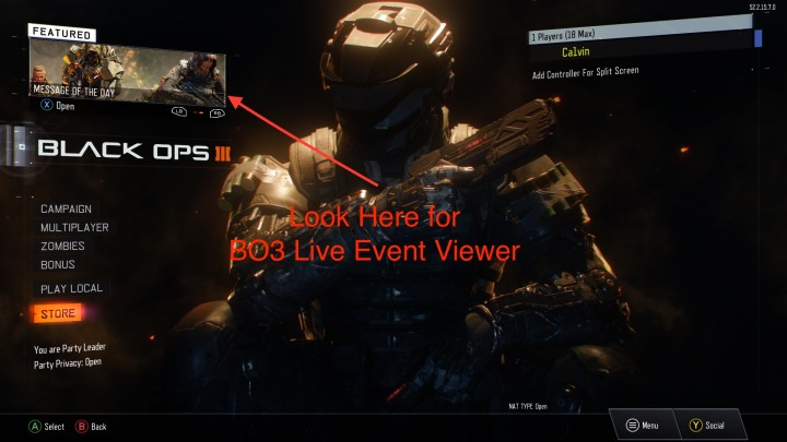 Look here for a Black Ops 3 DLC 3 live stream on your PS4 or Xbox One.