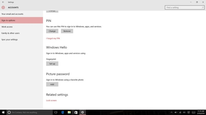 How to Login to Windows 10 with Your Finger (6)