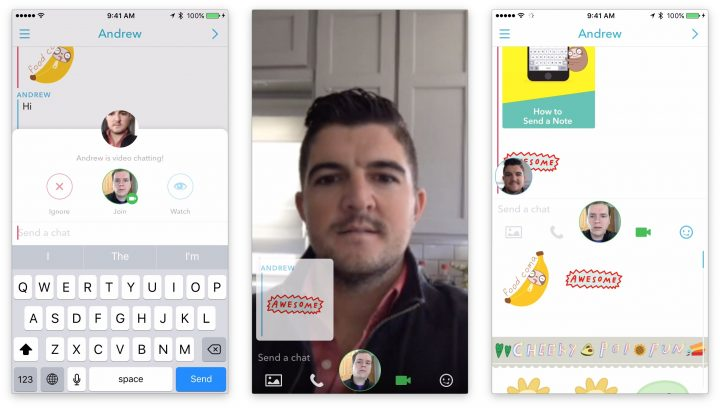 How to make a Snapchat video call in Chat 2.0 with the March Snapchat update.