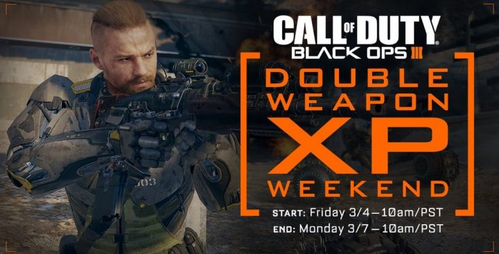 What you need to know about the March Black Ops 3 Double Weapon XP weekend.