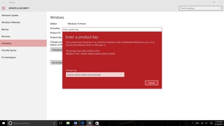 Upgrade from Windows 10 Home to Windows 10 Pro (8)