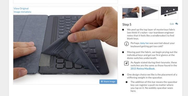 iFixit's Apple Smart Keyboard teardown shows the unique key technology.