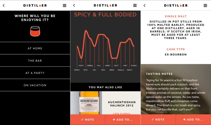 Learn about the bottle you found easily in the Distiller app for iPhone and Android.