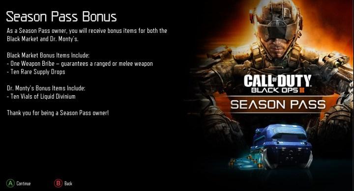 Black Ops 3 Season Pass Bonus