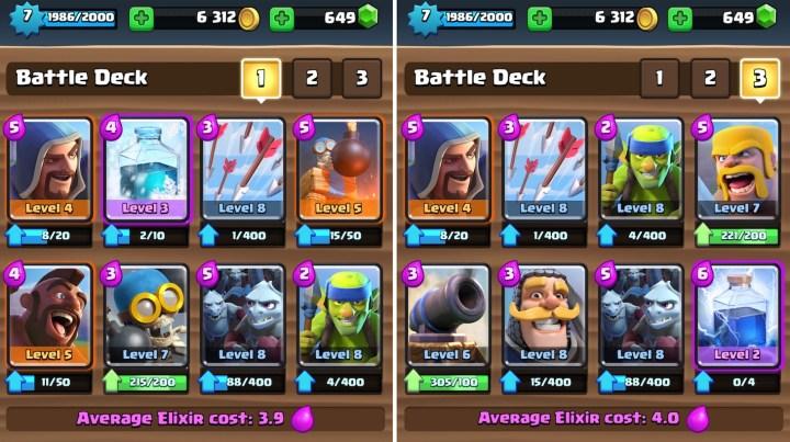 Clash-deck