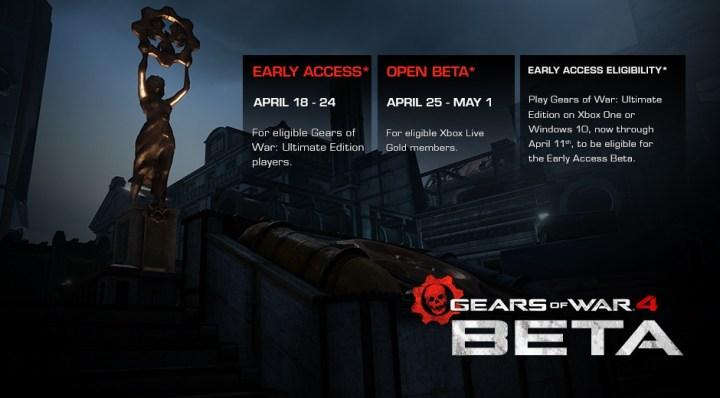 Gears Of War 4 Beta Release Date