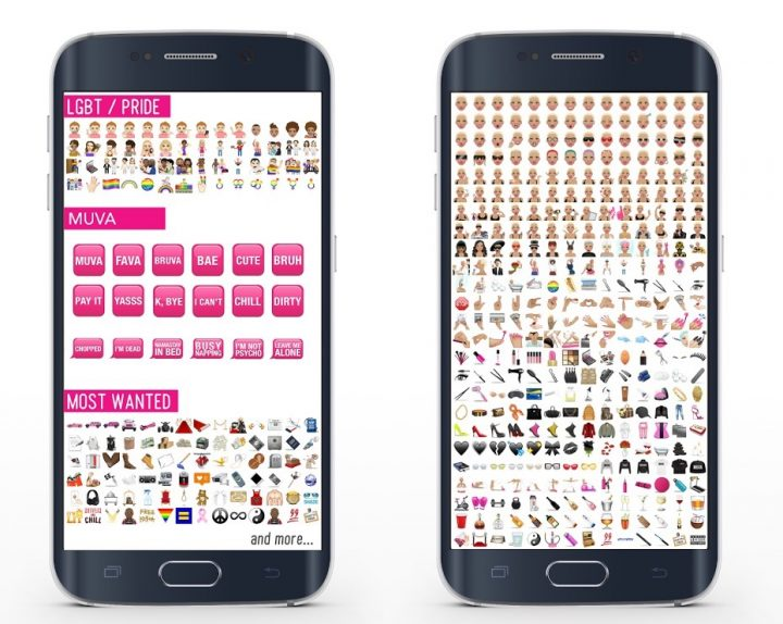 The MuvaMoji Android app includes the same options.