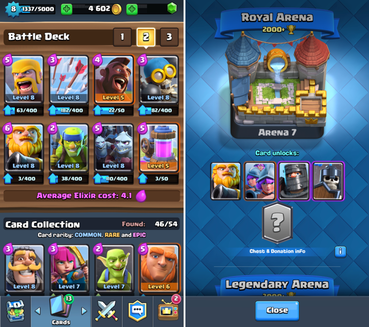 Clash royale decks to reach arena 6 and beyond somedroid for Deck arene 6 miroir