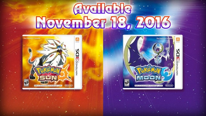 Pokémon Sun and Moon Release Date