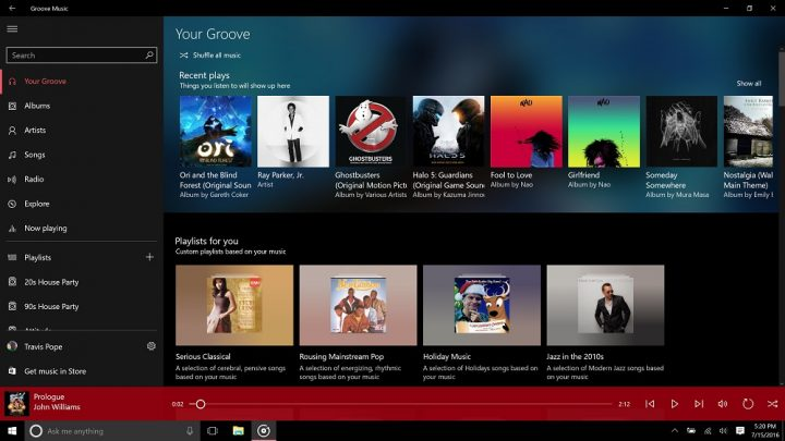 Groove Music Gets an Upgrade