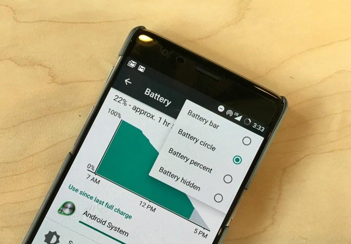 Customize the OnePlus 3 Battery Indicator