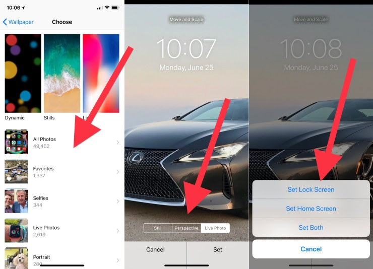 Choose your iPhone lock screen options.