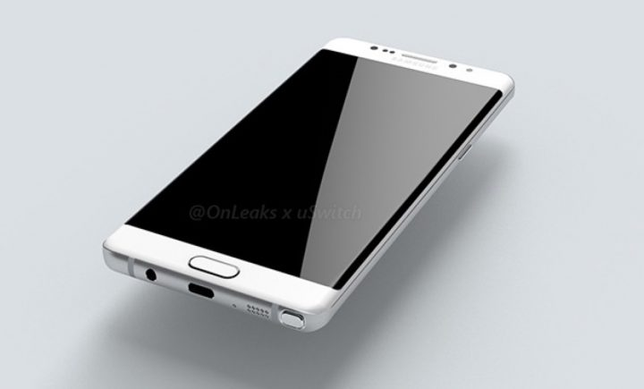 Galaxy Note 7 Render showing USB Type-C Port