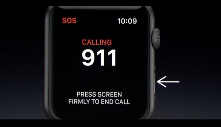 Apple Watch Emergency Button