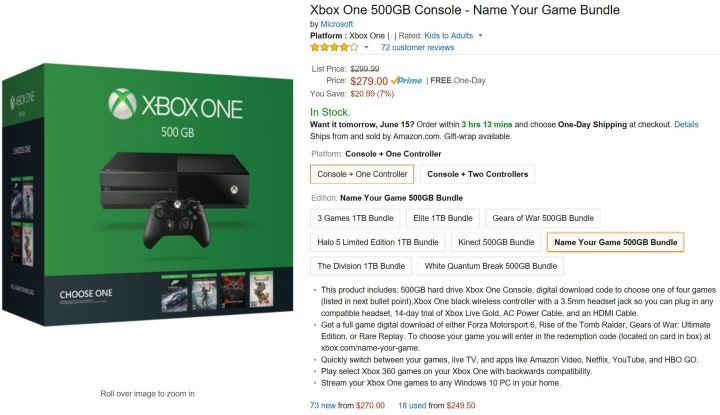 Xbox One Price Cut