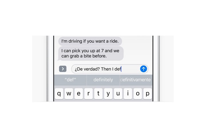 iOS 10 Multi-Lingual Keyboard