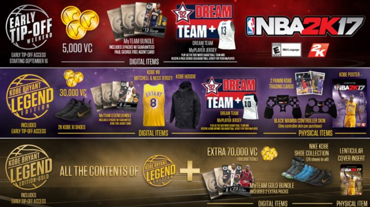 nba 2k17 pre-orders and extras