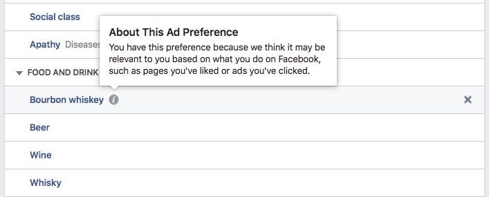 Find out why you see Facebook ads.